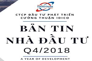 BẢN TIN NHÀ ĐẦU TƯ QUÝ 4/2018